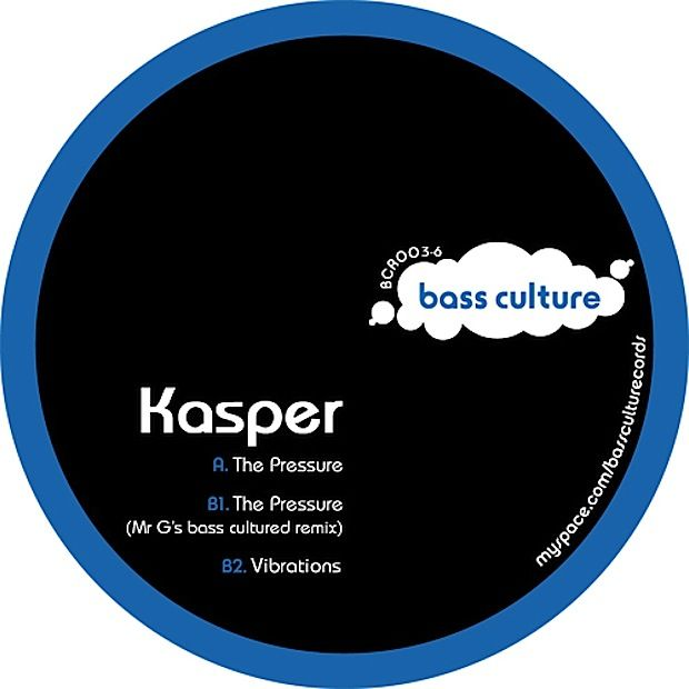 KASPER – THE PRESSURE EP [BASS CULTURE RECORDS]